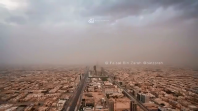 Photo of شاهد تصوير مذهل للعاصفة الرملية الجدارية اليوم الخميس على العاصمة السعودية الرياض