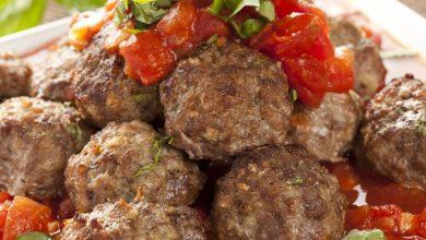 Photo of كرات اللحم مع شوربة الطماطم