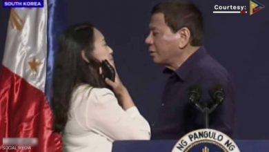 Photo of قبلة الرئيس الفلبيني تثير الغضب
