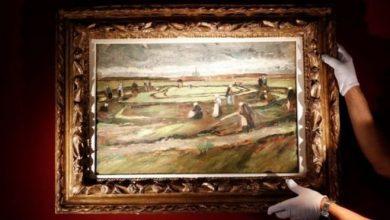 Photo of منظر طبيعي من أعمال فان غوخ الأولى يباع بـ 8.2 ملايين دولار