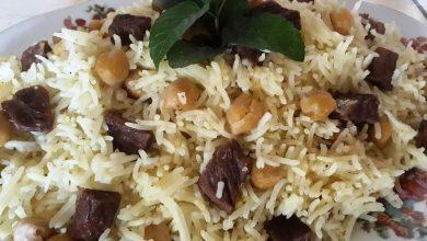 Photo of طريقة عمل الرز بالحمص واللحم (فيديو)