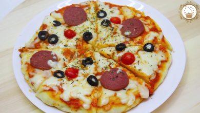 Photo of بيتزا المقلاة بدون فرن حضري البيتزا بعجينة ناجحة و طرية ب 10 دقائق (فيديو)