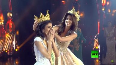 Photo of ملكة جمال العالم يغمى عليها أثناء تتويجها (فيديو)