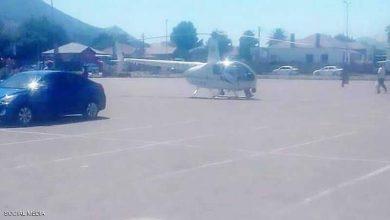 "Photo of يهبط بمروحيته لشراء وجبة من ""KFC"""