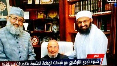 "Photo of ما حقيقة صورة القرضاوي مع ""المشتبه به الرئيسي بتفجيرات سيريلانكا"""