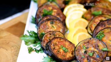 Photo of وجبة عشاء خفيفه ممكن تعملوها على السريع..حلقات الباذنجان الشهيه (فيديو)